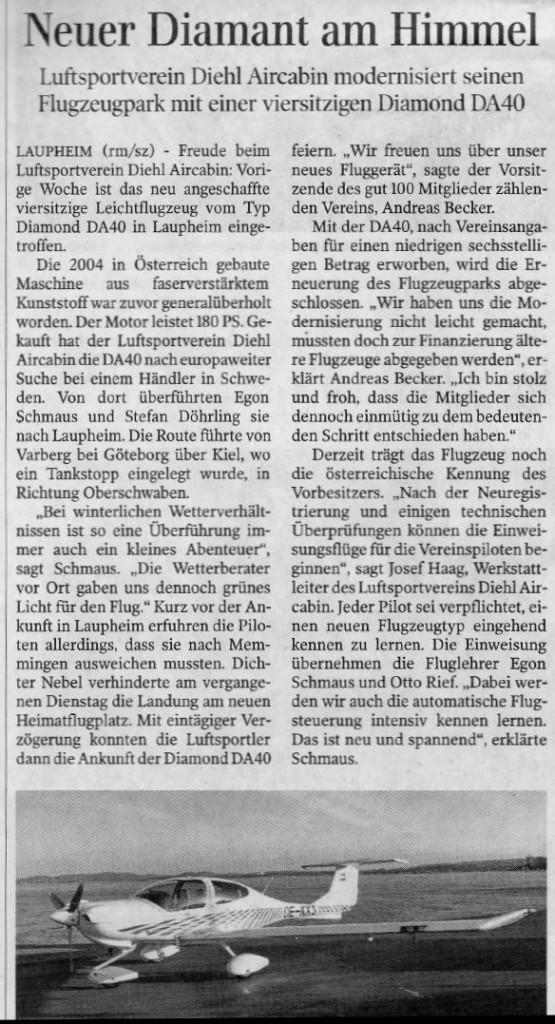 Zeitung DA40